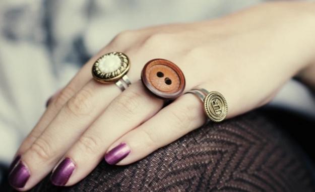 DIY Preciosos anillos botón